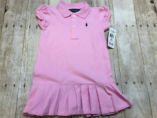 RALPH LAUREN POLO PINK PONY DRESS SKIRT GIRLS SIZE 24 MONTHS NEW WITH TAGS