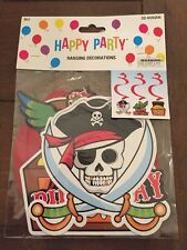 NEW Pirate Birthday Halloween Party Hanging Decorations 3 Pieces