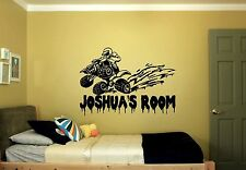 Four Wheeler MUD Personalized Bedroom Nursery Kids Wall Art Decor Decal Custom