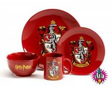 NEW OFFICIAL HARRY POTTER GRYFFINDOR FOUR PIECE DINNER SET NEW IN GIFT BOX