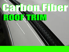 2pcs 3D BLACK CARBON FIBER ROOF TOP TRIM MOLDING DIY KIT -cfacura2r