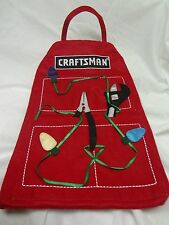 Sears Craftsman Tool Apron CHRISTMAS STOCKING*3 Pockets*Large Size*FREE SHIPPING
