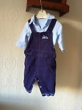 Mother care Boys Two Piece Dungarees Set Up To 1 Month