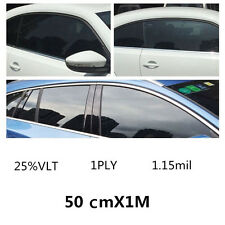 25% VLT Black Car Home Glass Window TINT Film and Shade Vinyl Roll 50cmx100cm