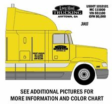 BAR & OVAL Design SEMI TRUCK LETTERING & NUMBER DECAL KIT - FREE SHIPPING
