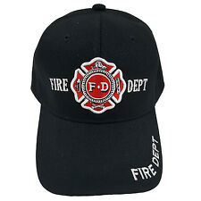 FIRE DEPT Black Baseball Fashion Cap
