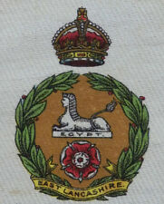 THE EAST LANCASHIRE REGIMENT Large Silk Card issued in 1914