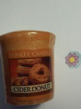YANKEE CANDLE CIDER DONUT VOTIVE HUNDREDS LISTED RARE AND AWESOME