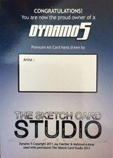 SALE! 2011 Dynamo 5 Blank Sketch Card - Sketch Card Studio / Sadlittles.com