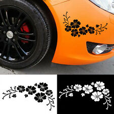 2pcs Black Flower Stickers For Auto Car Graphics Window Decals DIY Decoration