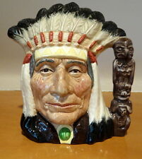 Royal Doulton England Character Toby Jug Large North American Indian D6611 6611