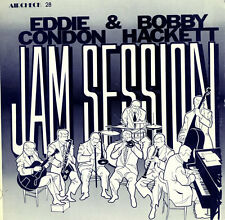 "Eddie Condon Bobby Hackett Jam Session 1980 LP 12"" 33rpm US vinyl record (fair)"