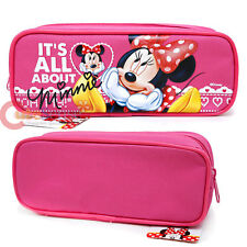 Disney Minnie Mouse Pencil Case Zippered Cosmetic Bag Hot Pink It's All About