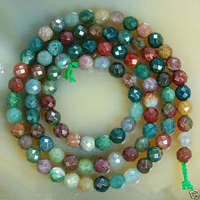 AAA+++ 8mm Faceted Natural India RARE Agate Round Gemstone Loose Beads 15''