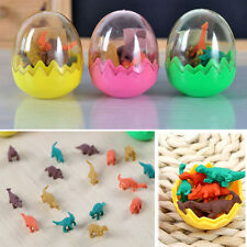 8pcs Mini Dinosaur Egg Pencil Rubber Eraser Students Office Stationery Gift Toy