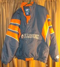 Used Older Starter Pullover Jacket Illinois Fighting Illini Size Extra Large XL