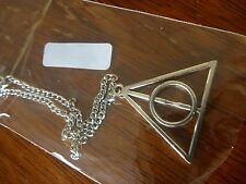 Harry Potter Deathly Hallows Triangle Charm Pendant Metal Necklace