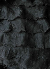 ********CLEARANCE ON BLACK JERSEY FABRIC WITH FRILLS FOR DRESS MAKING**********