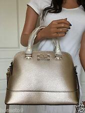 NWT KATE SPADE Wellesley Small Rachelle Rose Gold Leather Satchel Crossbody Bag