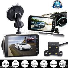 4'' Dual Lens Kamera HD 1080P Auto DVR Rückfahrkamera DashCam Recorder G-Sensor
