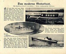Das moderne Motorboot (Rennboote) Reportage mit 19 Aufnahmen von 1907