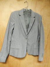 THEORY COtton Grey Pinstripe Blazer Size 12