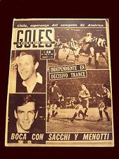 Soccer PEÑAROL vs INDEPENDIENTE LIBERTADORES CUP 1965 Goles magazine Argentina