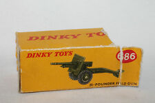 Dinky #686 25-Pounder Field Gun Partial Box