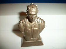 DARTH MAUL BUST STAR WARS GOLD Plastic STATUE European Cereal Premium KELLOGGS