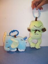CARTER'S CHILD OF MINE/JUST ONE YEAR  LINK LIGHT-UP MUSICAL FROG & ELEPHANT LOT