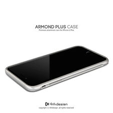 New 4thdesign ARMOND CASE  Premium aluminum case for iPhone 6 Plus, Silver color