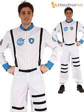 Adult White Spaceman Astronaut Mens Fancy Dress Costume Outfit NASA Space M L