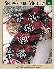 Snowflake Medley ~ Snowflakes, Country Christmas crochet patterns