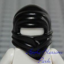 NEW Lego Ninjago Ninja BLACK HEAD WRAP - Cole Boy Minifig Headwrap Hood Hat Gear