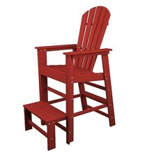 POLYWOOD Polywood South Beach Lifeguard Chair In Sunset Red SBL30SR NEW