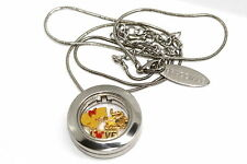 BRACCIALE DISNEY LOCKET ROUND SILVER NECKLACE WINNIE THE POOH FLOATING CHARMS