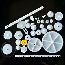 34pcs Plastic Gear Rack Pulley Belt Worm 8-56 Teeth Aircraft Car Model Robotic