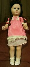 Vintage or antique paper mache and composition doll 27""