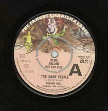 "GRAHAM BELL-Too Many People  Charisma Demo both A side UK 7""single SKIP BIFFERTY"