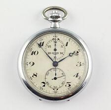 Erstklassiger Heuer Chronograph Schweiz Taschenuhr um 1940 Pocket watch montre