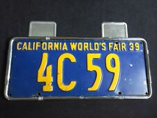 License plate sticker tag plate Chevy Ford Buick Hudson 37 38 39 40 41 42 46 47