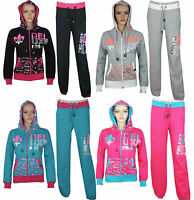 New Girls Kids Tracksuit Top Jog Jogging Bottom Trouser Age 7 8 9 10 12 13 Year