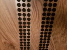 ALFATEX® SUPPLIED BY VELCRO® 10mm DOTS BLACK SELF ADHESIVE COINS