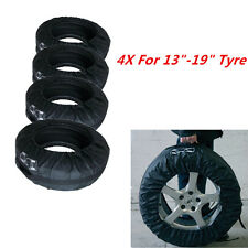 """Set of 4 Tyre Wheel Cover Storage Bag Spare Tyre Cover 13""""-19"""" Winter Snowing"""