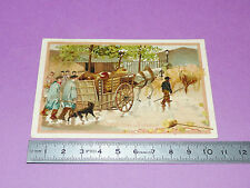 RARE CHROMO 1890-1900 ECOLE BON-POINT LA VOITURE DE BOUVIERS