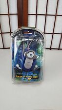 Coby CX-7 BLUE AM FM Radio with Coby Earbuds