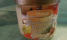 BATH AND BODY WORKS  MARSHMALLOW PUMPKIN LATTE  14.5OZ 3 WICK SCENTED CANDLE