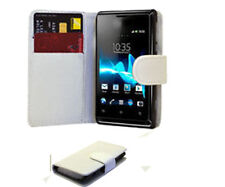 For Sony Ericsson Xperia S LT26i Leather Wallet Flip Case Cover Pouch White UK