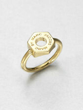 MARC BY MARC JACOBS Tiny Bolt Ring Gold Logo Size 7 New with Tags