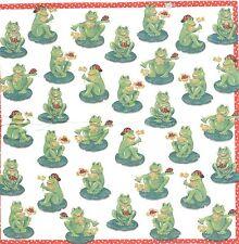 3 Mouchoirs en papier Animal Grenouille - Paper Hankies Froggies - serviette